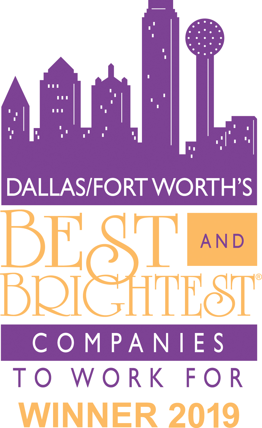 Best and Brightest to work for- Dallas award